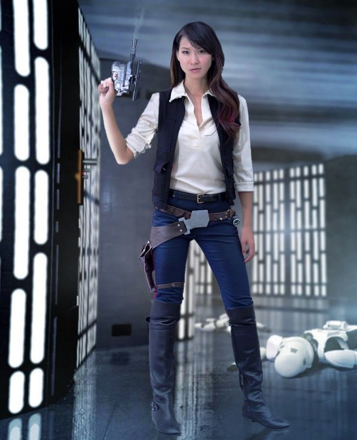Cosplay Gallery | the stylish geek Han Solo Tutorial and full writeup available. Female Han Solo Costume.