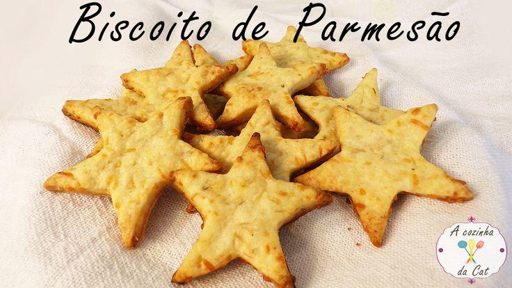Biscoito de Parmesão / Parmesan Cookie - Um biscoito salgado fácil, rápido, crocante e super saboroso. Ótimo para servir como aperitivo nas festas ou comer no lanche da tarde.