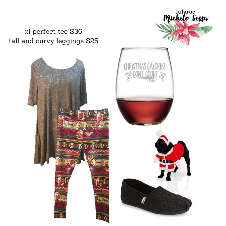 Cuddle up and watch your favorite Hallmark Christmas Movie in these cozy and soft LuLaRoe Holiday Leggings and Gray LuLaRoe Perfect Tee. The LuLaRoe Leggings are perfect for the holidays with a sweater like background and Santa! Visit my LuLaRoe Shopping Group for more LuLaRoe Holiday Collection Leggings and LuLaRoe Perfect Tees like this one!