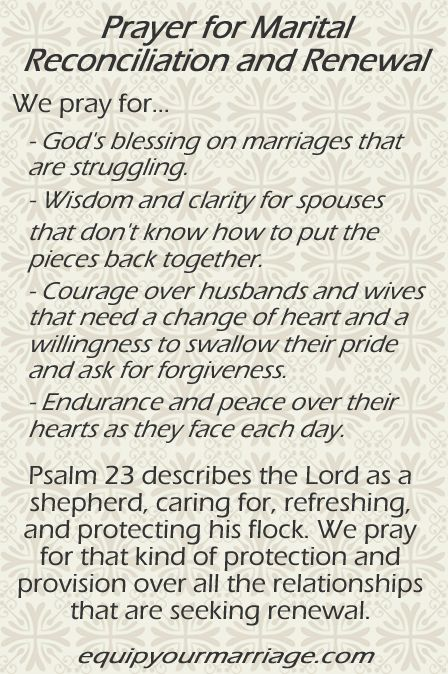 Marriage Prayer for Renewal and Reconciliation - Psalm 23