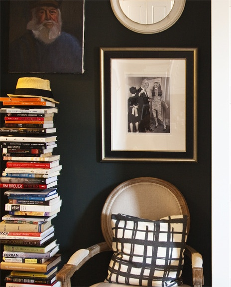 Ellie Somerville's Studio Apartment, Louis Chair, Sapien Bookcase from The Container Store, Lonny