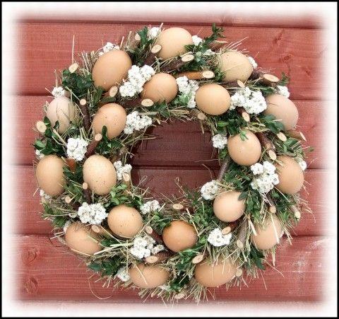 Simira - Vajíčkový velikonoční věnec - sanvitalky