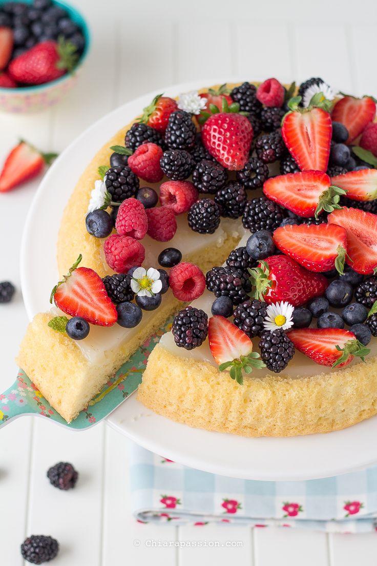 Crostata di frutta con base morbida