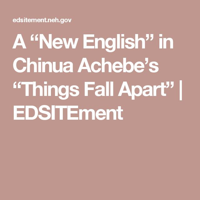 an analysis of the book things fall apart by achebe Introduction - let studymodecom get you up to speed on key information and facts on things fall apart by chinua achebe.