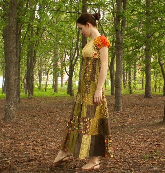 Лоскутное платье