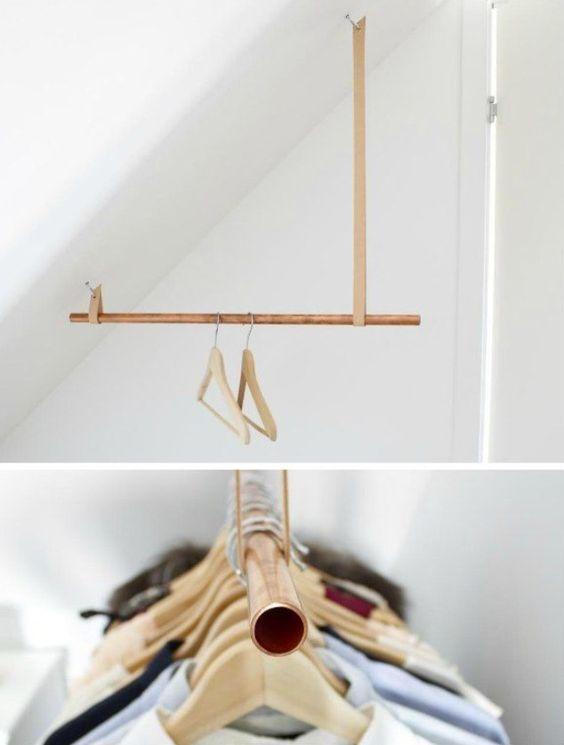 mini dressing penderie sous le toit: