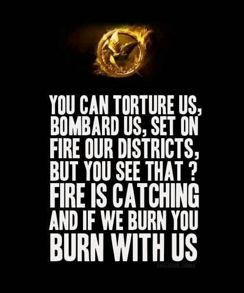 Catching Fire quote Katniss says on video to President Snow