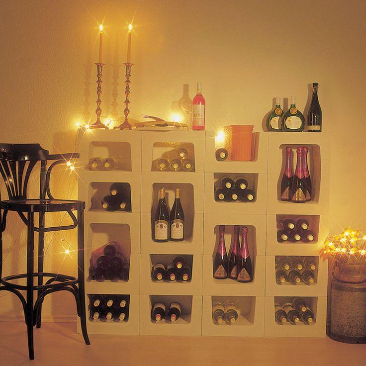 Romatik im Weinkeller mit Weinregal CLASSIC aus Stein.