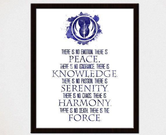 Jedi Code Star Wars Poster Print Star Wars by mithrilandmathoms