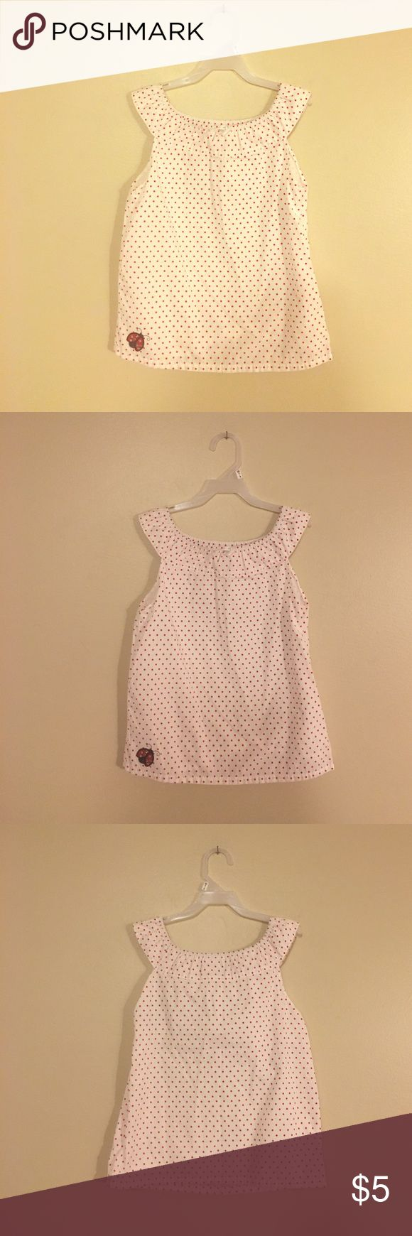 Gymboree Red & White Lady Bug Long Top/Dress 9 Gymboree - lady bug Long Tunic shirt. Size 9. Looks adorable w leggings !! Excellent condition. Smoke free. Has side Zipper. Lady bug has rhinestones!! So sweet !! Please check with me if need measurements. Gymboree Shirts & Tops Camisoles