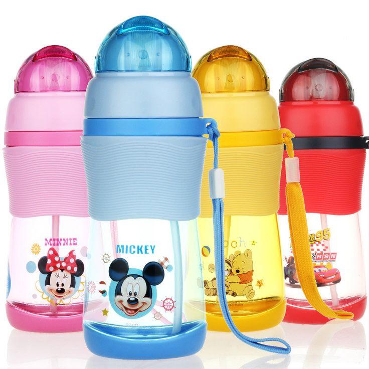 400ml PP Kid Cartoon Plastic Straw Water Bottle Bickiepegs Baby Cups Kids Drinking Water Bottles Children Kettle Sports Bottle