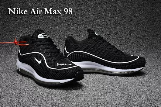 100% authentic 20fb8 07132 Nike Air Max 98 Black White - Jane Levis - Google+   Nike Air Max 98 in  2019   Nike shoes cheap, Nike shoes, Nike air shoes