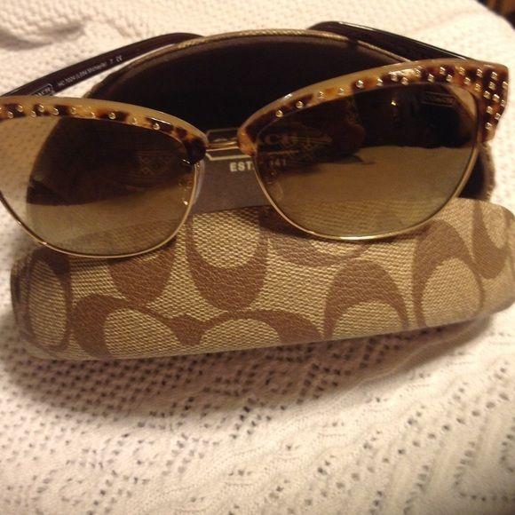 HOST PICK3/28 Authentic Coach sunglasses/ case Excellent condition Coach Michayla sunglasses in Amber ocelot color. Case is in excellent condition Coach Accessories Sunglasses