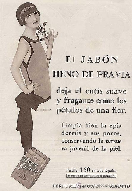 Heno de Pravia Soap, 1926 by Gatochy, via Flickr