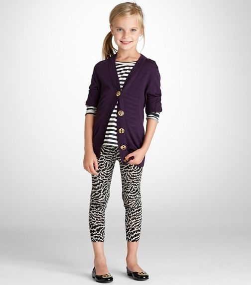 Tory Burch: Fancy & Funky. Play with a mix of patterns in similar color palette. Don't be shy! Kid girl fashion