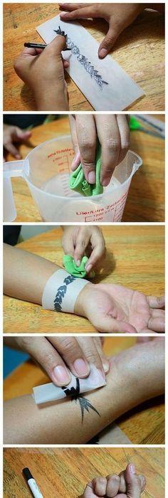 Make a tattoo, #a #make #sie # tattoo #TemporarryTattoodiy, #DiyTatt   – ALLES