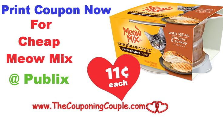 Meow Mix Simple Servings Cat  Food Only $0.11 @ Publix this week. PRINT now while coupon is available so you don't  miss  out on this  deal **  Click the link below to get all of the details ► http://www.thecouponingcouple.com/meow-mix-simple-servings-cat-food-only-0-11-publix/ #Coupons #Couponing #CouponCommunity  Visit us at http://www.thecouponingcouple.com for more great posts!