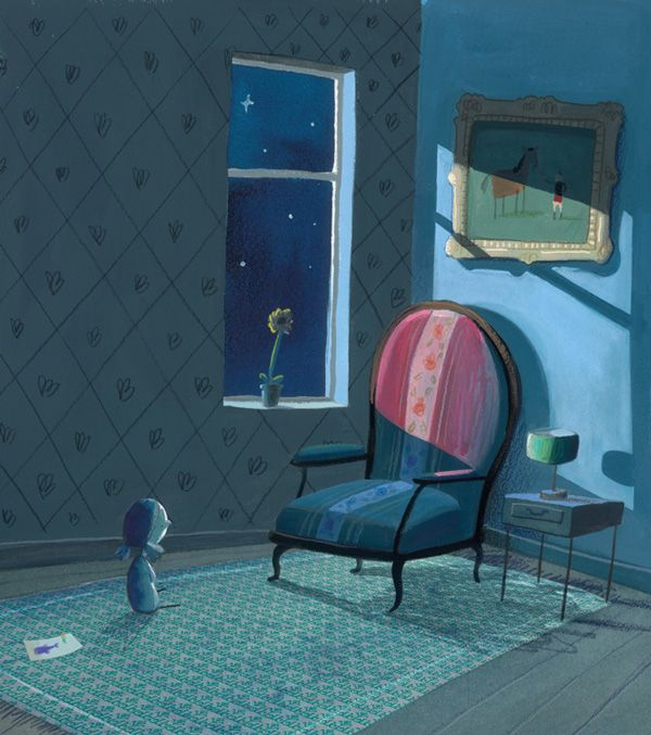 The heart was put back where it came from. And the chair wasn't so empty anymore.  The Heart and the Bottle: A Tender Illustrated Fable of What Happens When We Deny Our Difficult Emotions   Brain Pickings