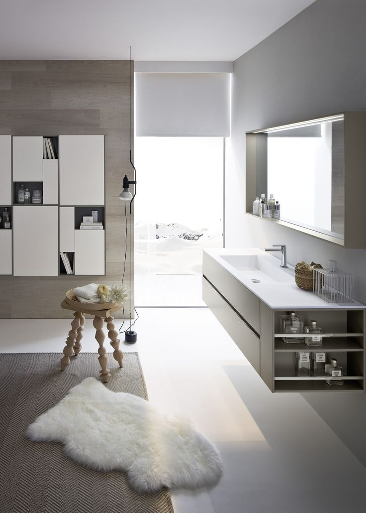 Mobile lavabo con specchio COMP N06 by IdeaGroup