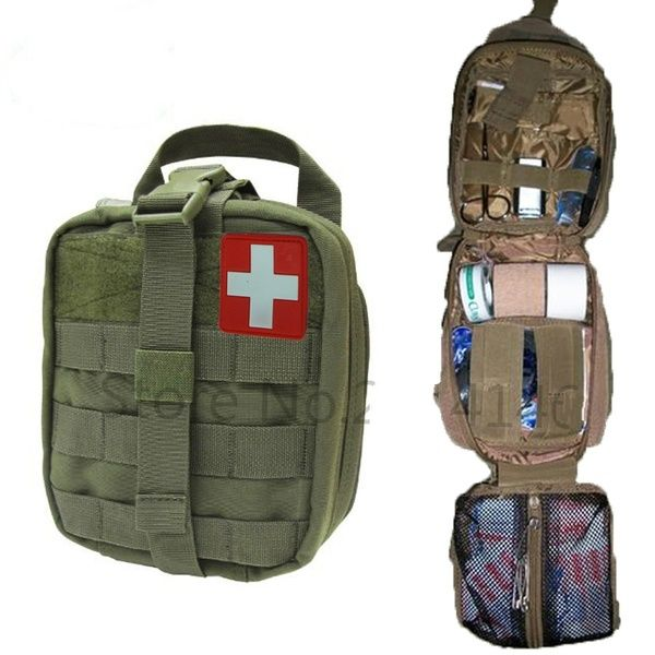 Tactical Ifak First Aid Bag Molle Emt Rip Away Medical Military Utility Pouch Rescue Package For Travel Hunting Hiking Wish First Aid Utility Pouch Climbing Bag