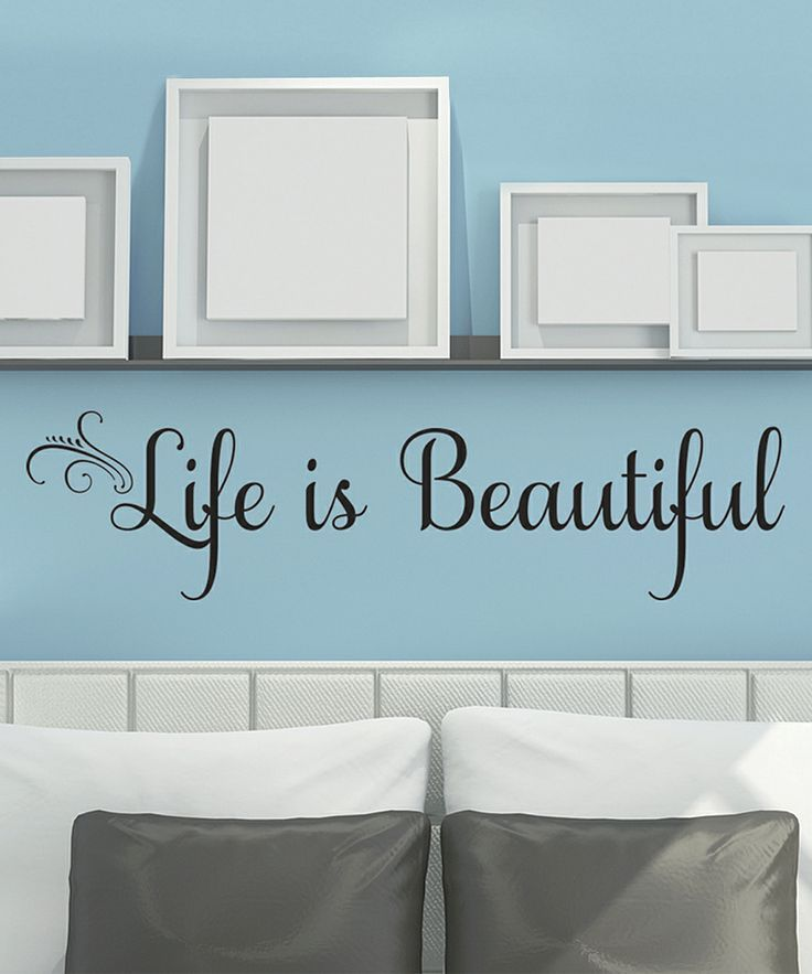 'Life Is Beautiful' Wall Decal