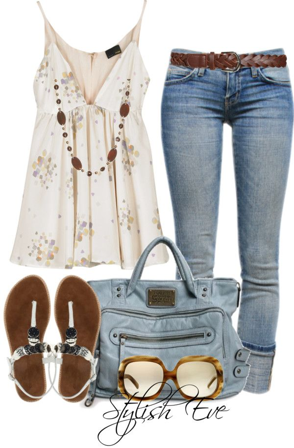 "Love this outfit. Pretty. Maybe not the glasses. ""Noha"" by stylisheve on Polyvore"