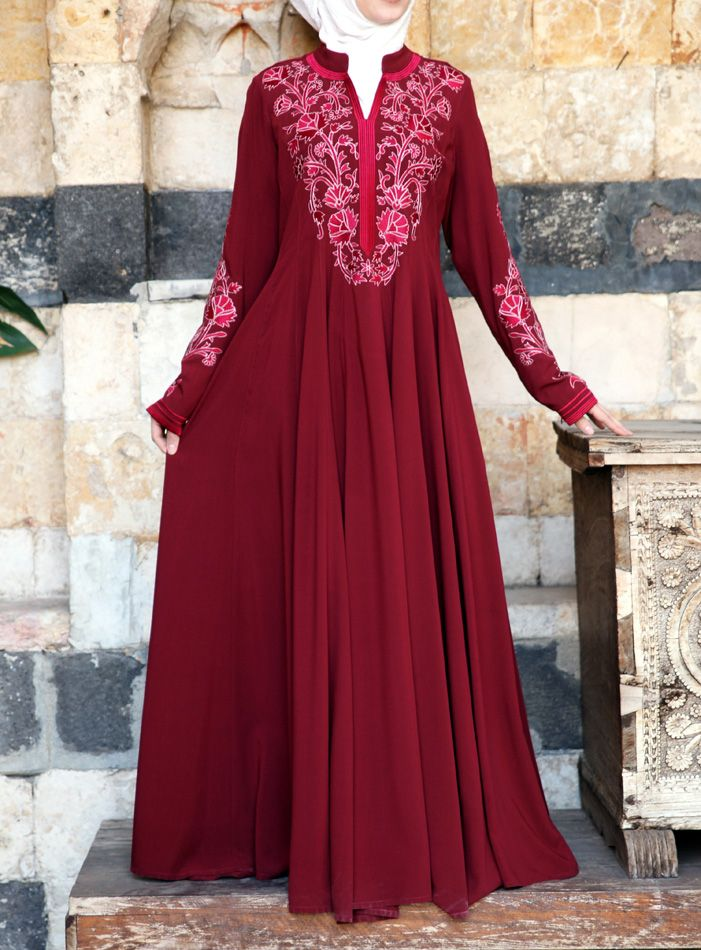 SHUKR USA   Azizah Embroidered Gown