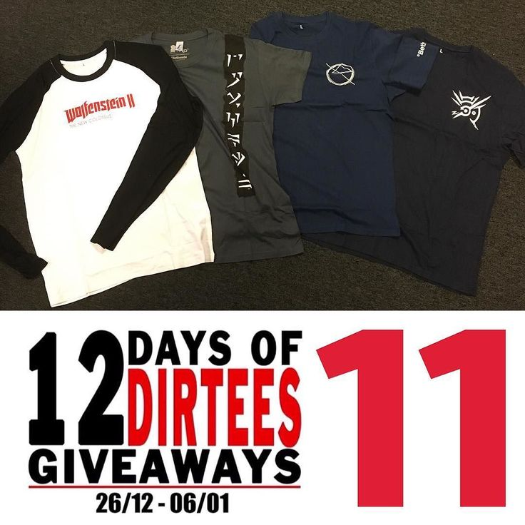 On the eleventh day of 12 Days of Dirtees Giveaways I'm raffling off these for shirts of @bethesda_nl games; #wolfenstein2 #skyrim #prey #dishonored2  Want a chance to win? Follow us let us know in the comments what system your playing on (PC Xbox etc.) and tag your gaming buddies.  You can participate on Facebook and Instagram. -Melvin #wolfenstein #bethesda #dishonored #pc #playstation #xbox #nintendo #gamer #gamergeek #12daysofdirtees #gamerguy