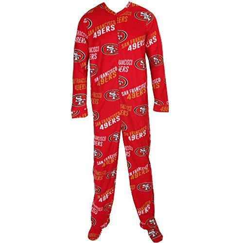 San Francisco 49ers NFL Wildcard Unionsuit Pajamas (Small)