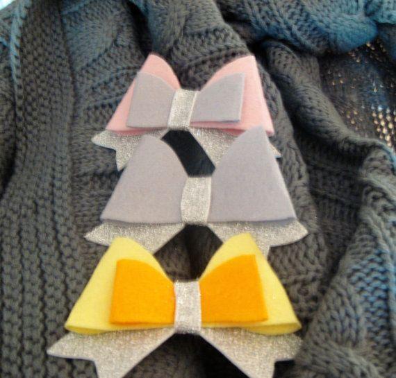 girl hair clip toddler accessory felt bow clip by BrillianceDecor