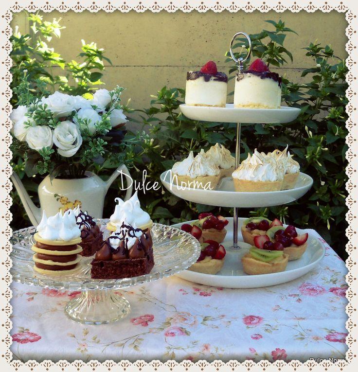 Petits Gateaux Mesa dulce de mini tortas individuales ♥ Cheesecake, Lemon Pie, Brownie, Rogel, Frutales.