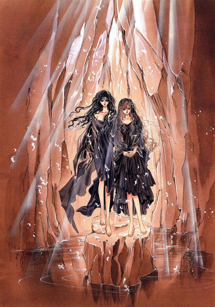 """Saya Monou & Kotori Monou from """"X"""" series by manga artist group CLAMP."""