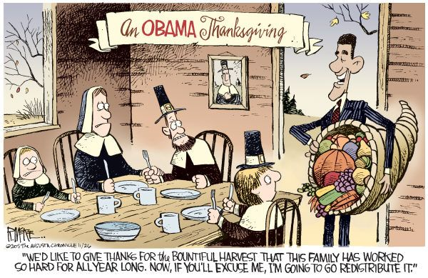 funny turkey pics   An Obama Thanksgiving - Funny Cartoon - Picture