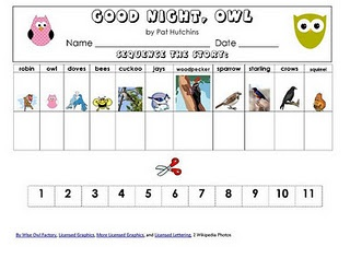 FREE Sequencing Page for GOOD NIGHT, OWL!