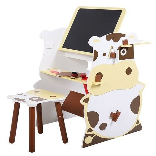 Kids Drawing Board Easel Creative Desk Stool Art Studio Set Child NEW #1