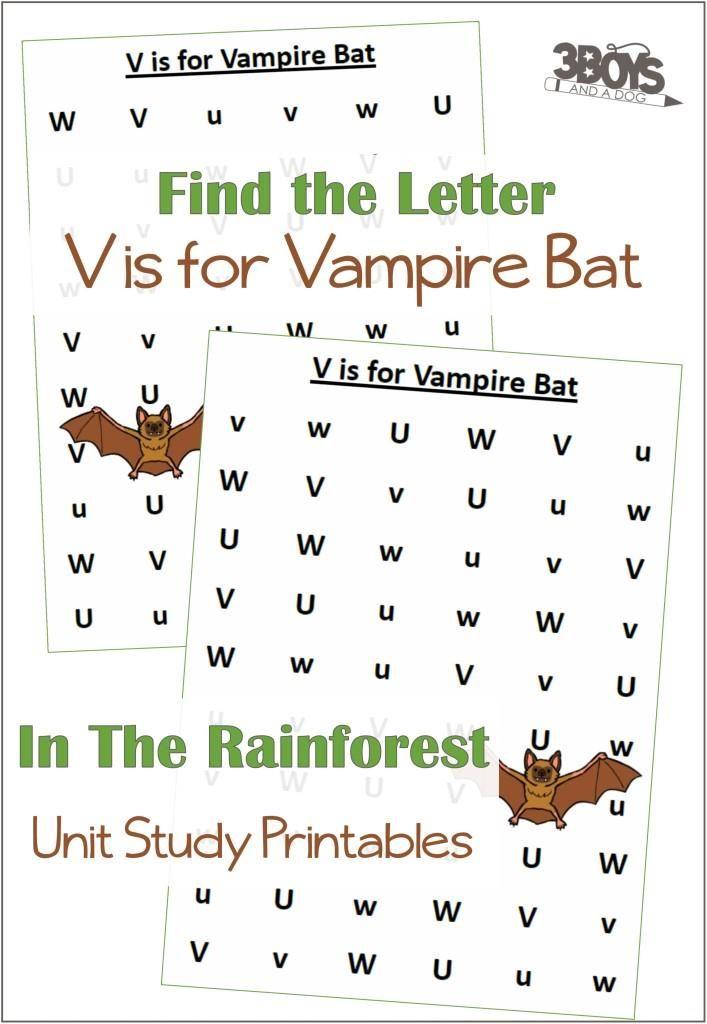 V Is For Vampire Bat Worksheets Free Homeschool Printables