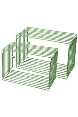 Wandregal Würfel Metall 2teilig grün