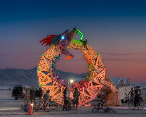 Burning Man Art: Burning Man, Men 2011, Burning Men Art, Cores Projects, Men Festivals, Photo, Flipsid Cores, Ouroboros, Burningman