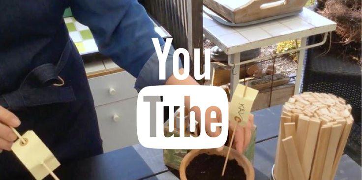 PLANTESKILTE TIL ALLE SÅNINGERNE - DIY-plantlabels / VIDEO