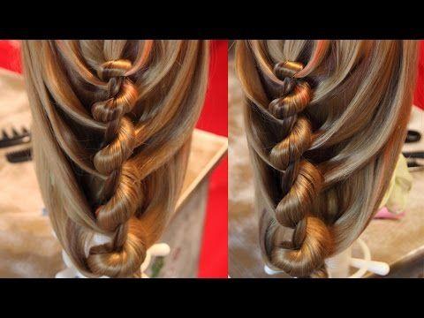 "Коса с резинками - ""Сердечки"" - 2 - YouTube"