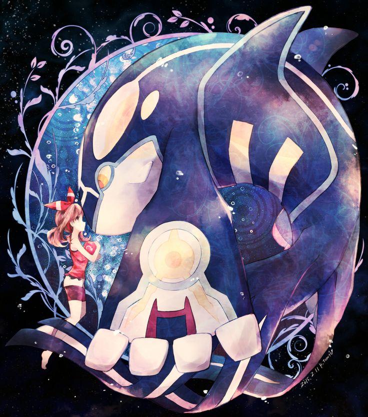 Tags: Fanart, Pokémon, Nintendo, Pixiv, Haruka (Pokémon), Kyogre, GAME FREAK, Legendary Pokémon, Kabocha Torute, Fanart From Pixiv, Primal Form (Pokémon)