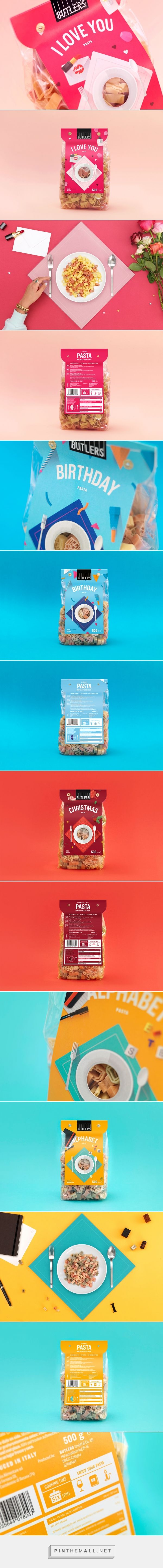 Butlers Pasta packaging design by STUDIO CHAPEAUX - http://www.packagingoftheworld.com/2016/11/butlers-pasta.html