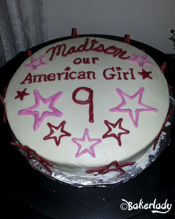 American Girl Birthday Cake                                                                                                                                                     More