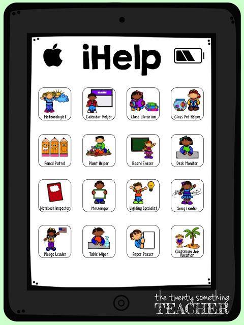 Modern Classroom Jobs ~ New ihelp classroom jobs bulletin board tpt pinterest