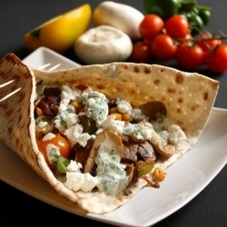 Mediterranean vegetable & goat cheese flatbread recipe