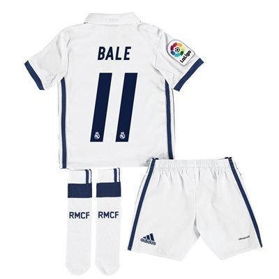 Real Madrid Home Jersey 2016/17 - Infant - with Bale 11 printing: With ventilating climacool® technology… #RealMadridShop #RealMadridStore