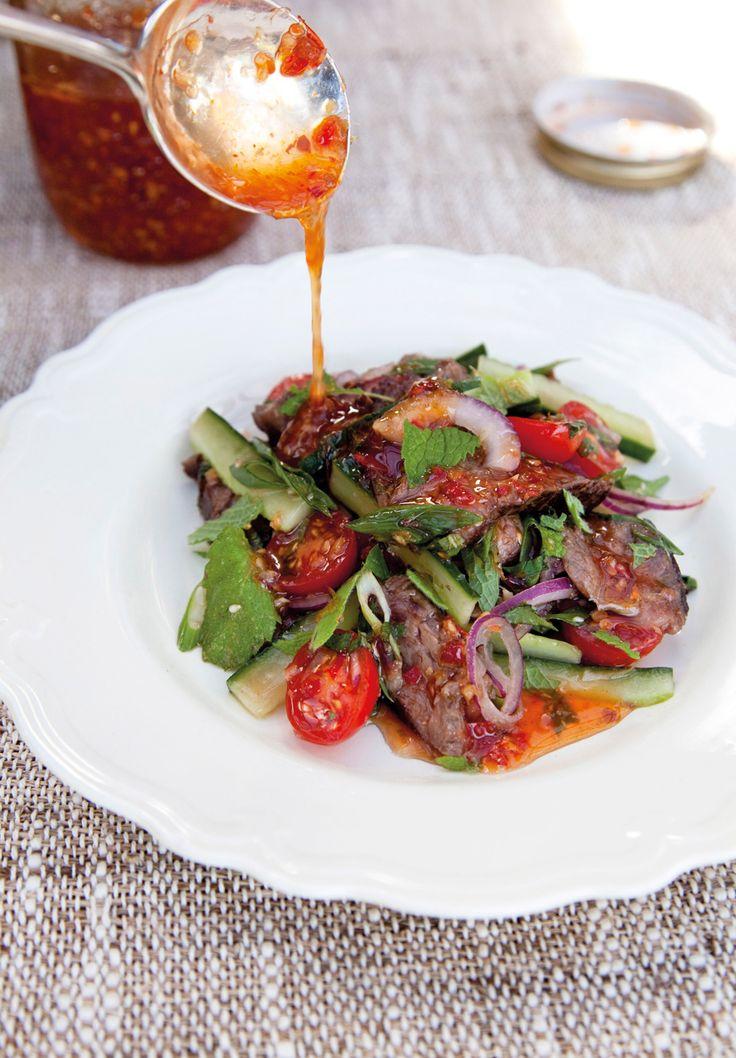 Thaise-biefsalade