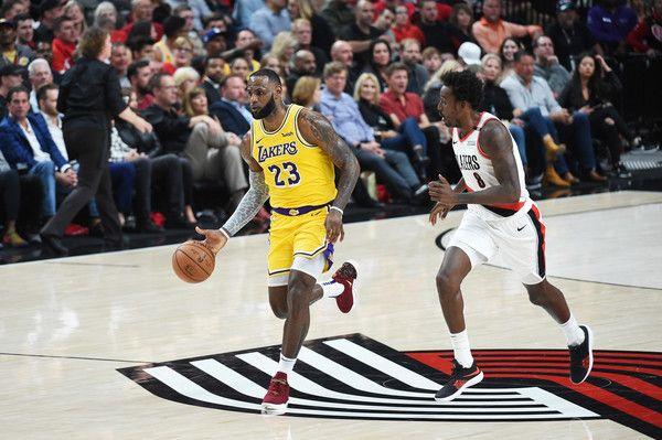 Lebron James Photos Photos Los Angeles Lakers Vs Portland Trail Blazers Lebron James King Lebron James Lakers Vs
