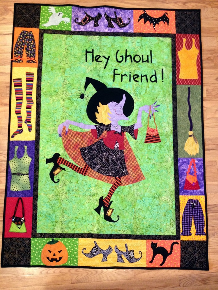 Worth Pinning: Hey Ghoul Friend - Halloween Witch Quilt