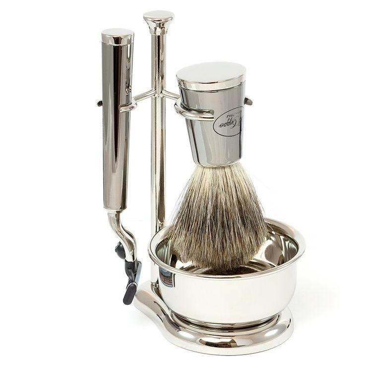 Il Ceppo Vespucci 4-Piece Mach3 Shaving Set with Best Badger Brush, Gunmetal